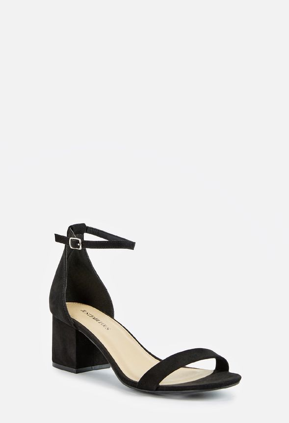 00e57a5b586 Sanoura Heeled Sandal in Black - Get great deals at JustFab