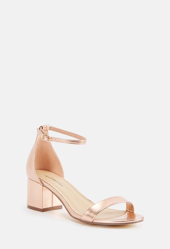 739120d89c5c Sanoura Heeled Sandal in Rose Gold - Get great deals at JustFab