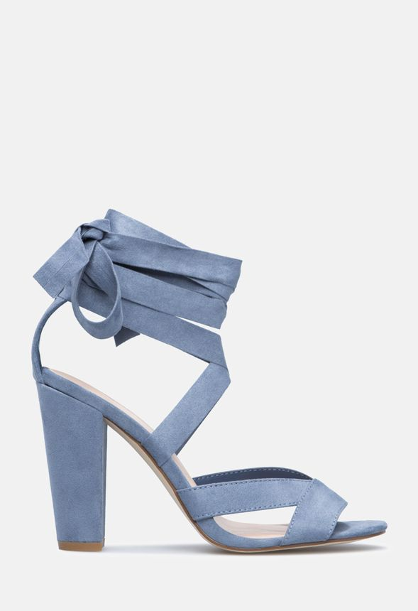 096243f0253 NATTY HEELED SANDAL in DUSTY BLUE - Get great deals at JustFab