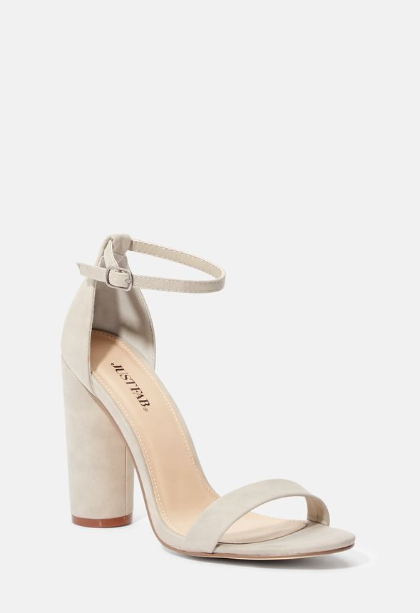 2f350cc2811 Elena Heeled Sandal in Gray - Get great deals at JustFab