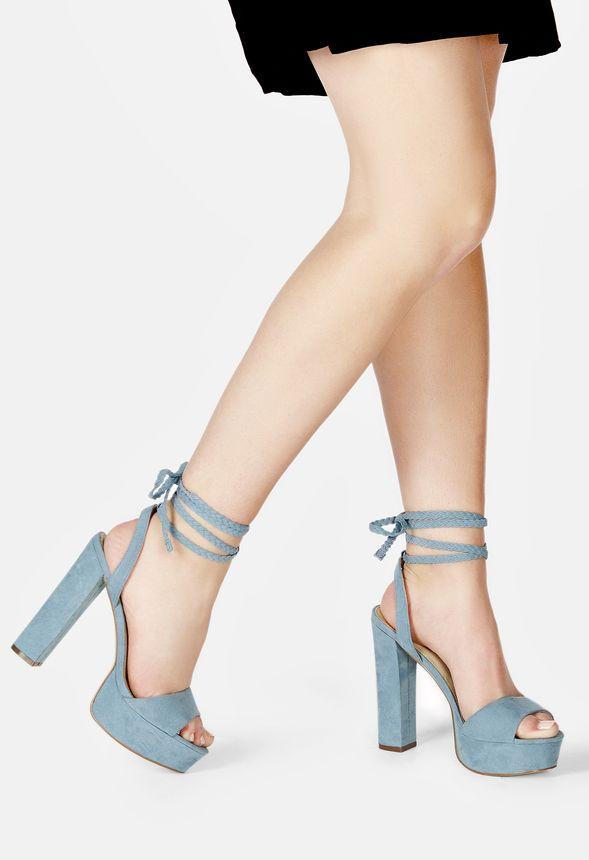 690f382d51e3 Spencer Platform Heeled Sandal in dusty blue - Get great deals at ...