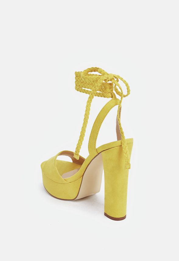 f8810b3464af70 Spencer Heeled Sandal in Yellow - Get great deals at JustFab