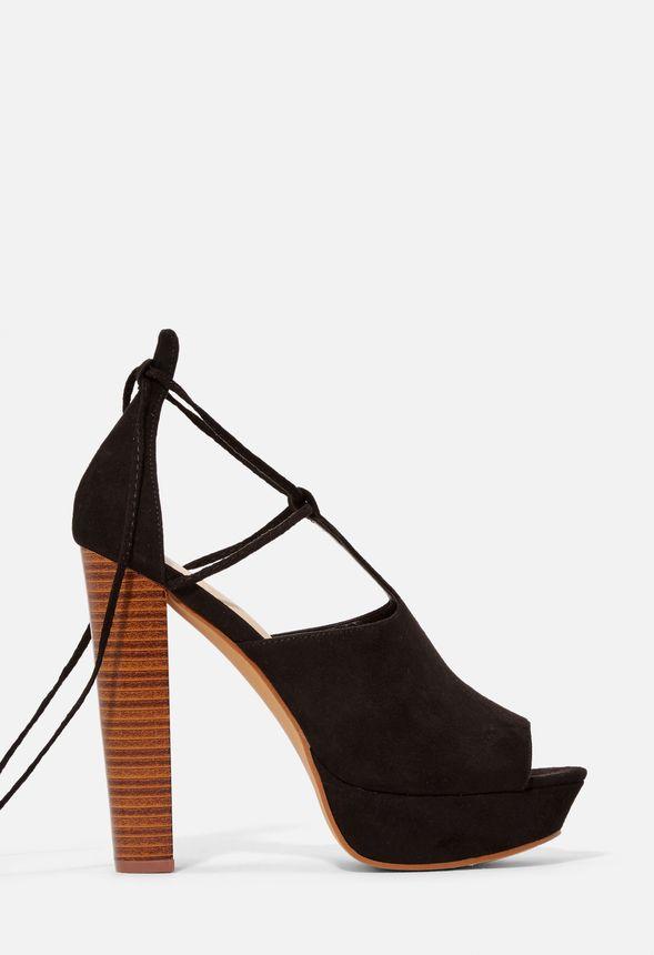 b8ca40c2ce7b Nylia Platform Heeled Sandal in Black - Get great deals at JustFab