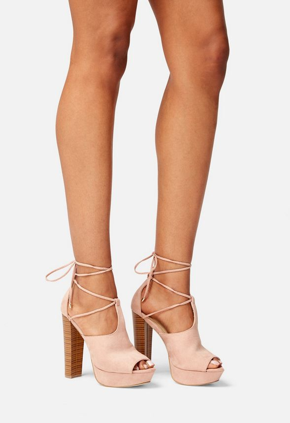 1a3280e030b9 Nylia Platform Heeled Sandal in Blush - Get great deals at JustFab
