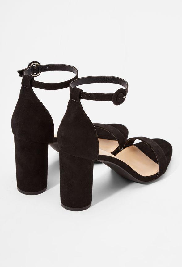 c7824b3b87d Jacey Cylinder Heeled Sandal in Black - Get great deals at JustFab