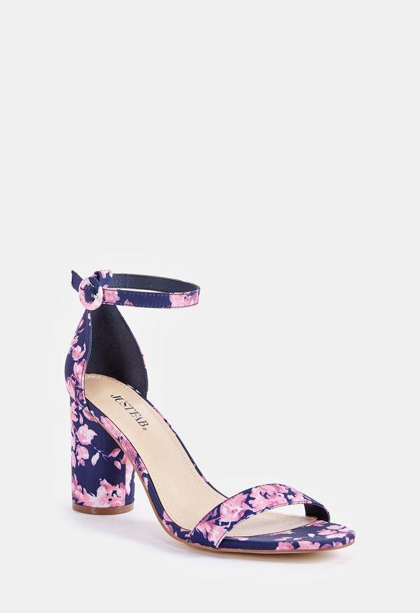 4f495924347 Jacey Cylinder Heeled Sandal in floral - Get great deals at JustFab