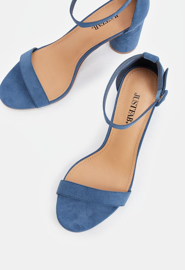 483ee07c9cf Jacey Cylinder Heeled Sandal in SLATE BLUE - Get great deals at JustFab