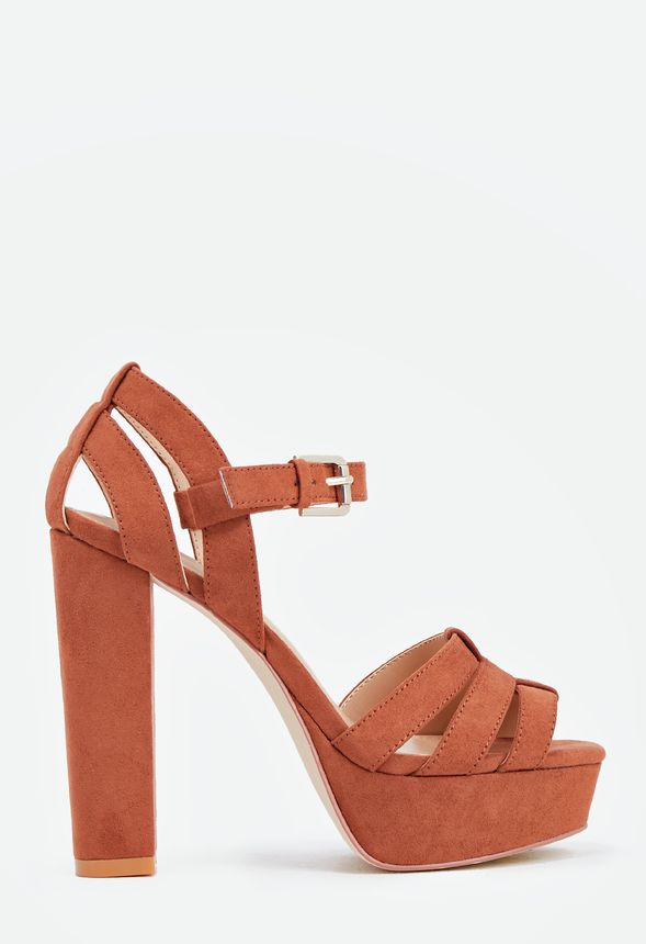 23828dc24 Margot Heeled Sandal in Cognac - Get great deals at JustFab
