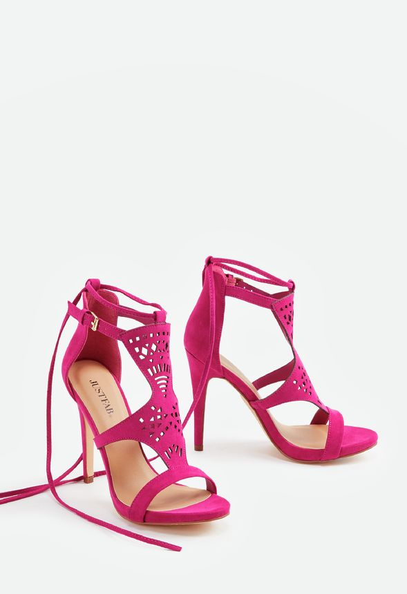 2437e8cd2af5 Jadee Heeled Sandal in Fuschia - Get great deals at JustFab