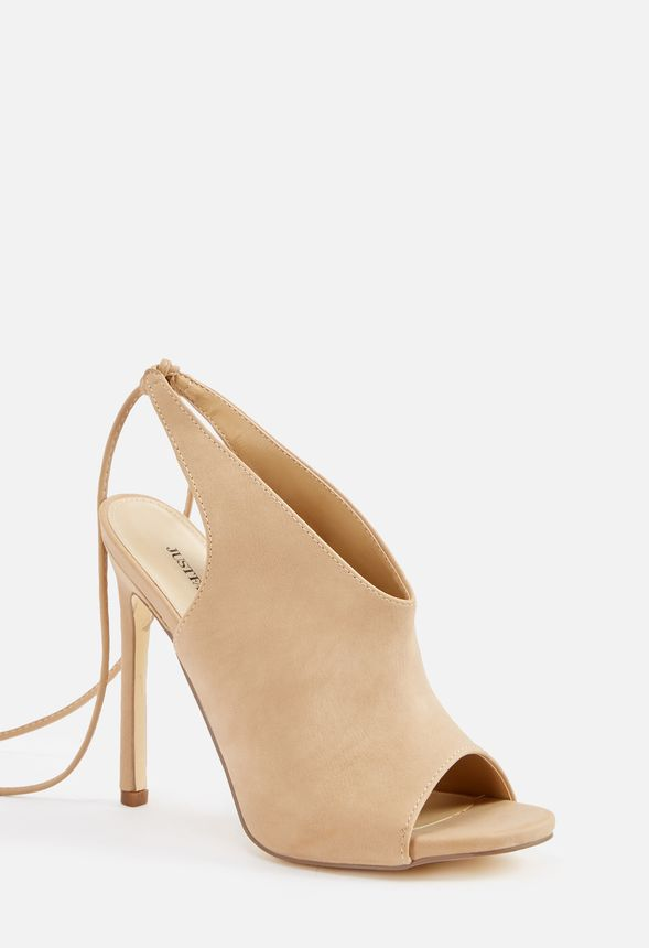 4a89ed6797a Annabella Ankle Tie Heeled Sandal in Taupe - Get great deals at JustFab