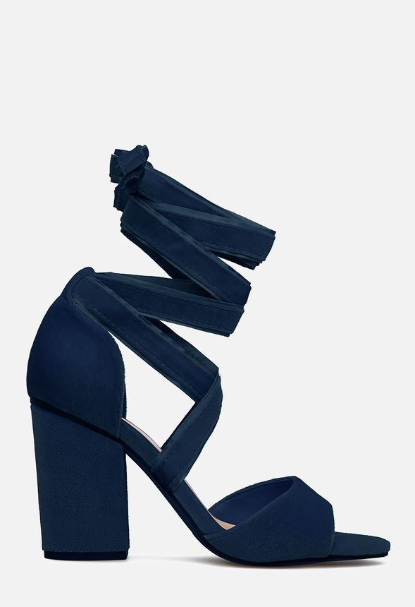 df8a1c6097d CRINA HEELED SANDAL in Navy - Get great deals at JustFab