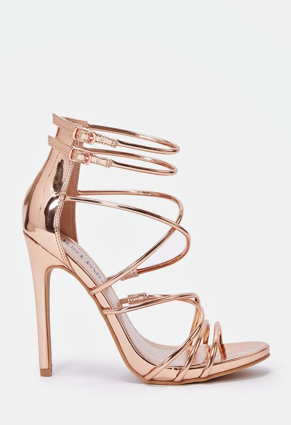 3ed5b8728fd Harlow Heeled Sandal in Rose Gold - Get great deals at JustFab
