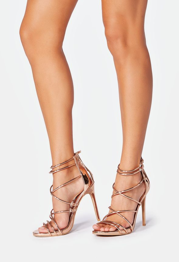4b2854824f8 Harlow Heeled Sandal in Rose Gold - Get great deals at JustFab
