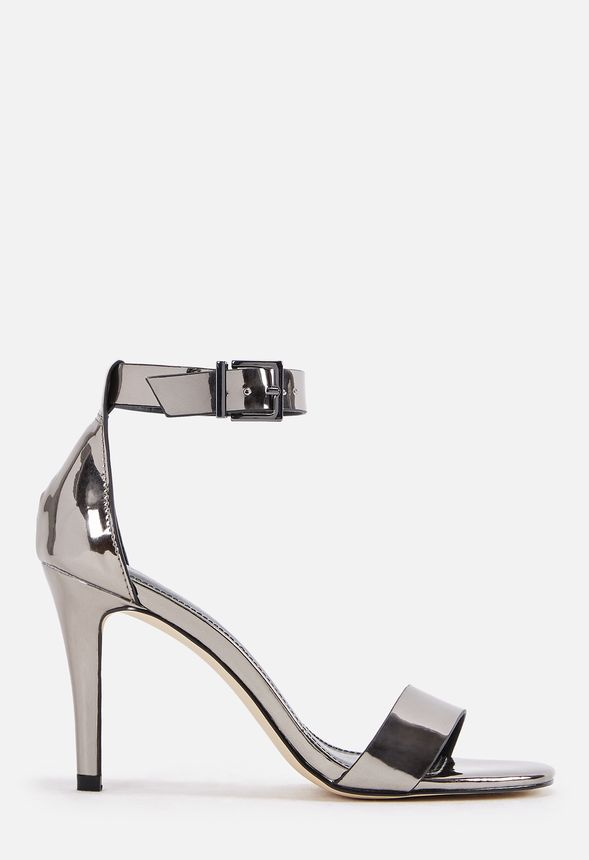 3afd6564aa74 Carolina Heeled Sandal in Pewter - Get great deals at JustFab