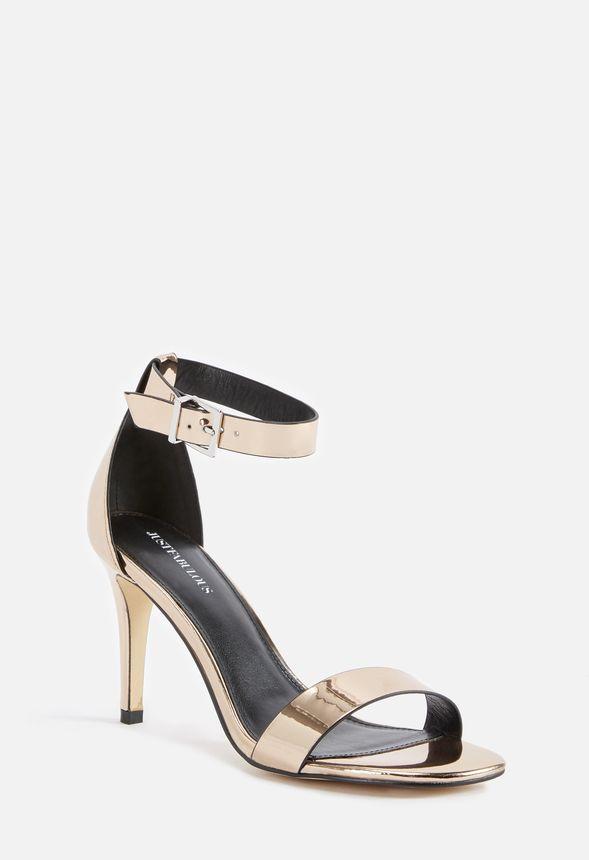 8ce34220d Carolina Heeled Sandal in Rose Gold - Get great deals at JustFab