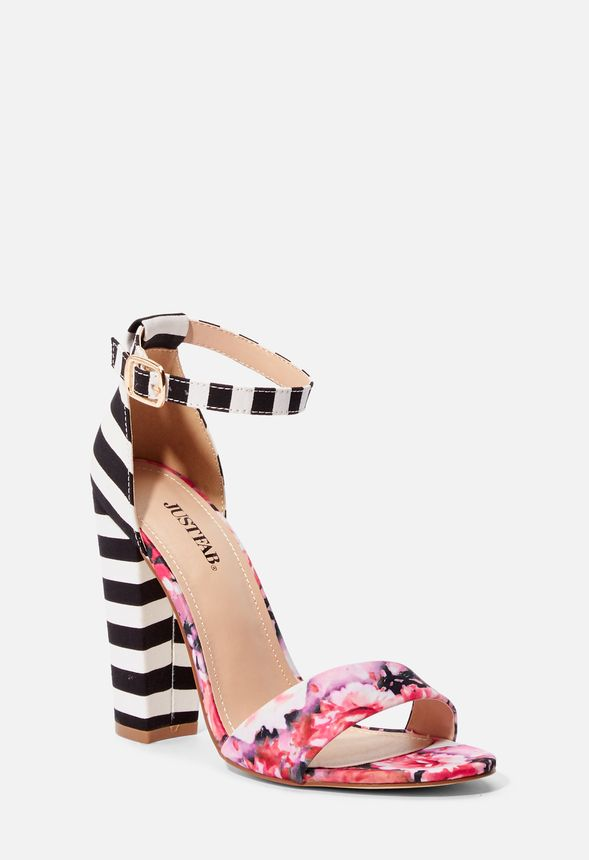 Great In Sandal At Floralstripe Heeled Deals Lena Justfab Get rQChxtds