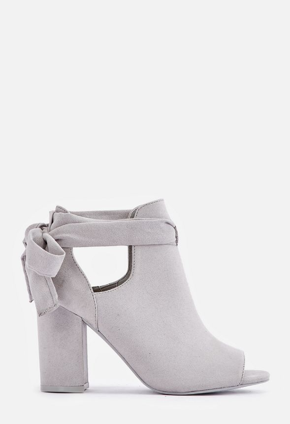 aa4066d2b Bowa Tie Back Open Toe Bootie in Gray - Get great deals at JustFab
