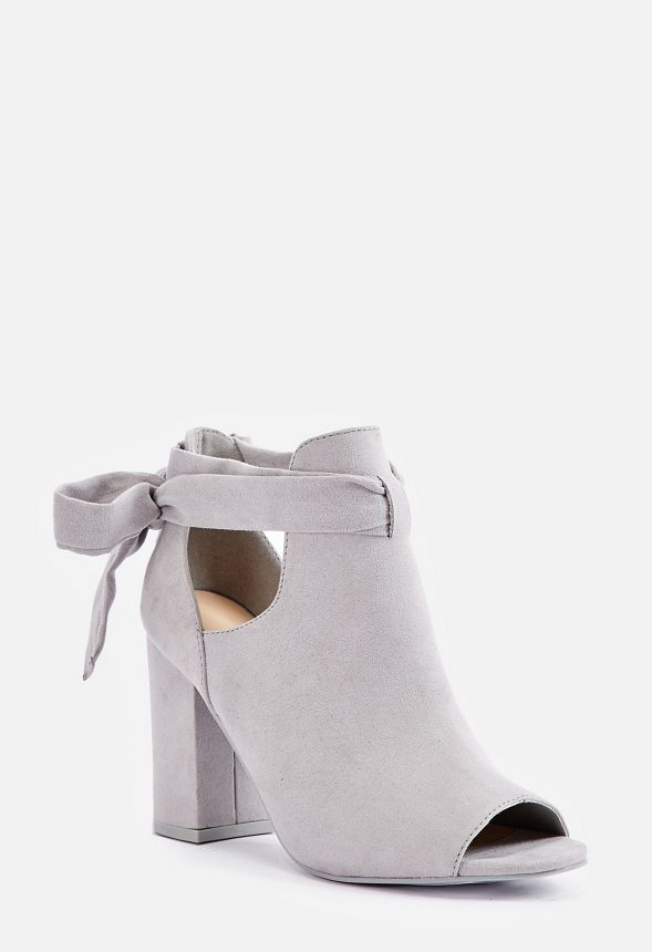 394b980bf Bowa Tie Back Open Toe Bootie in Gray - Get great deals at JustFab