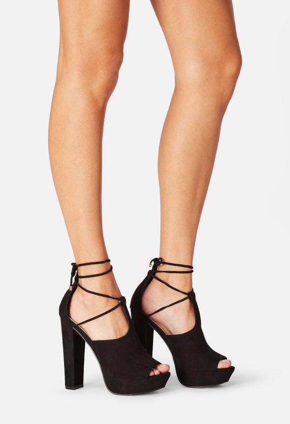 5ff52c7821a67f Shawne Platform Heeled Sandal in Black - Get great deals at JustFab