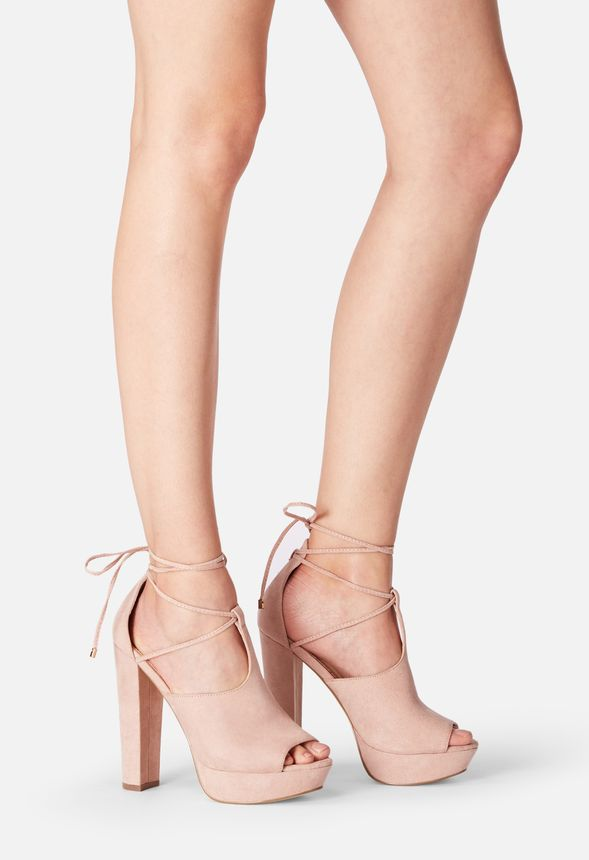 56ffbd8ad63 Shawne Platform Heeled Sandal in Blush - Get great deals at JustFab