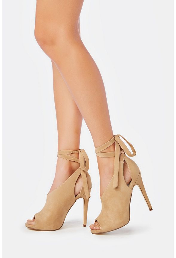 f6a994988 Amalia Heeled Sandal in Nude - Get great deals at JustFab