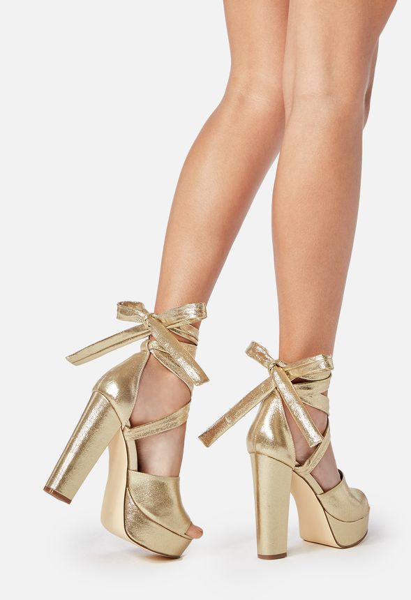 bc47136cd5bd Lita Heeled Sandal in Gold - Get great deals at JustFab