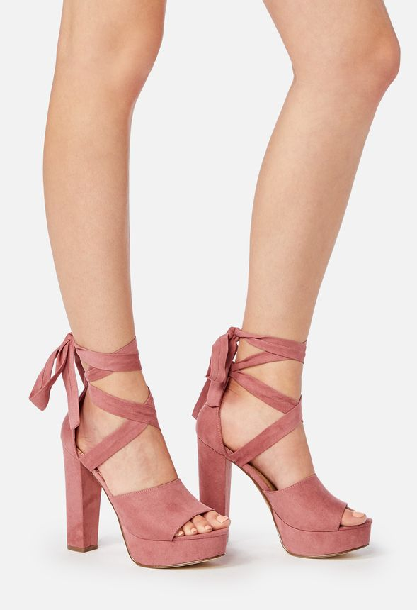 1295a2f8d69d Lita Heeled Sandal in pink mauve - Get great deals at JustFab