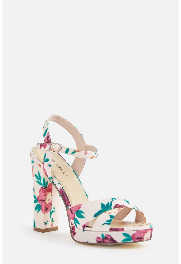 fa7d2f09d79f Clarabelle Heeled Sandal in FLORAL PRINT - Get great deals at JustFab