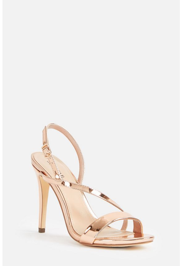d6e50db36675 Tamia Heeled Sandal in Rose Gold - Get great deals at JustFab