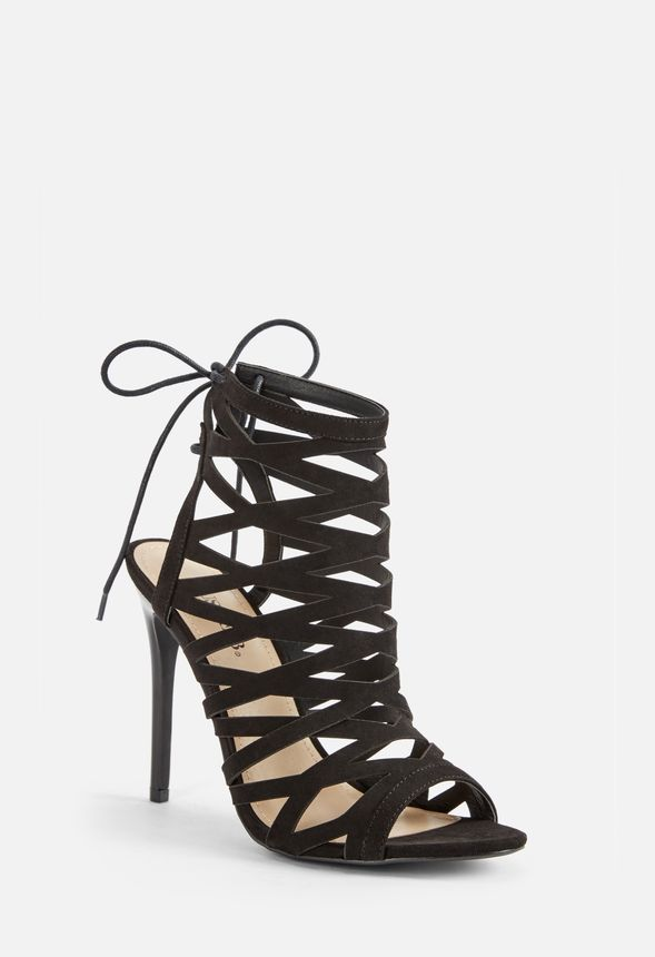 a100965cc65 Persa Lace Back Cage Heel in Black - Get great deals at JustFab