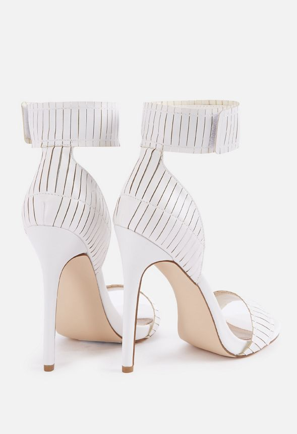 a26b1fa053ce Sehra Dressy Heeled Sandal in White - Get great deals at JustFab