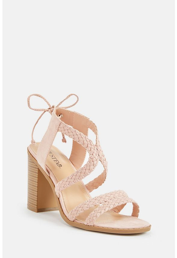 ecc9bd88efc6 Brenda Braided Heeled Sandal in Blush - Get great deals at JustFab