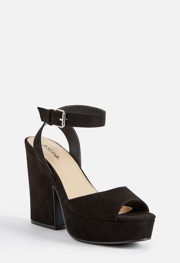 9e162bd651d Niki Platform Heeled Sandal in Black - Get great deals at JustFab