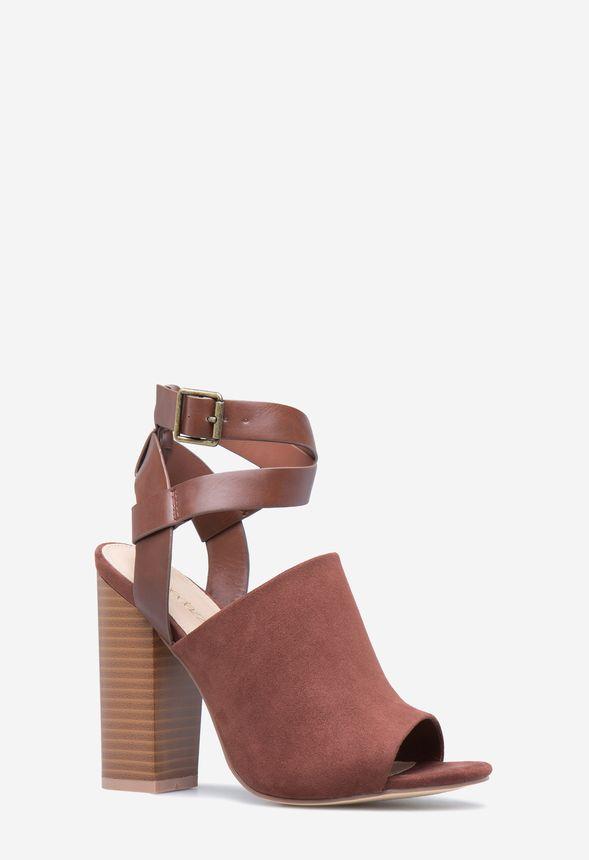 b91254b666f493 Ella Ankle Wrap Heel in Cognac - Get great deals at JustFab
