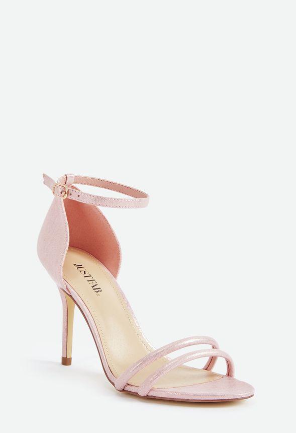 Nights to Remember Evening Heeled Sandal in PINK METALLIC - Get ...