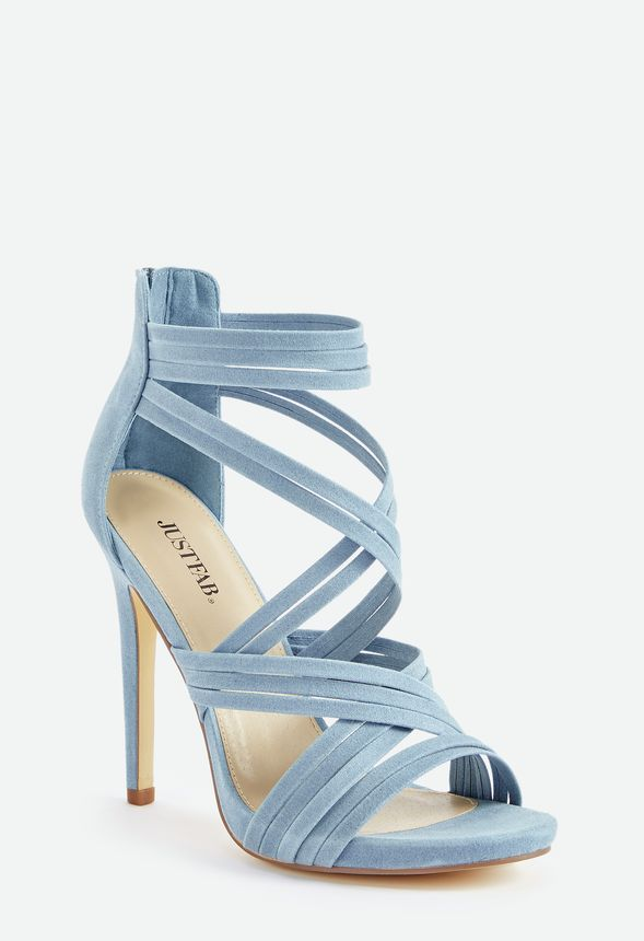 88594034a6 Party Pleaser Strappy Heeled Sandal in Stone Blue - Get great deals ...
