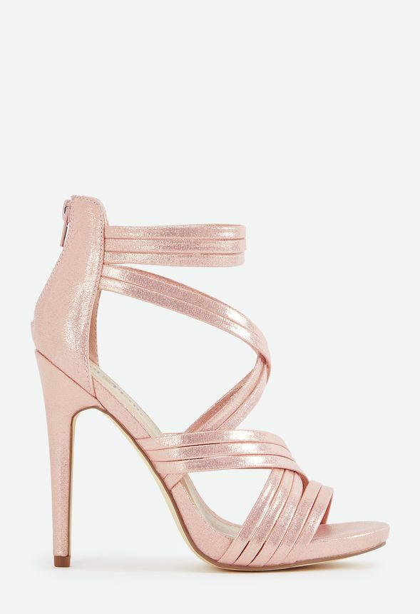 5dbf003f5f86 Party Pleaser Strappy Heeled Sandal in Blush - Get great deals at JustFab
