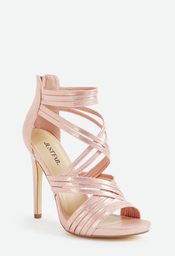 a18954a6ee84 Party Pleaser Strappy Heeled Sandal in Blush - Get great deals at ...