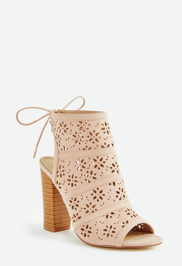 37816f412ddf2 Flower Power Perforated Heeled Sandal in Blush - Get great deals at ...