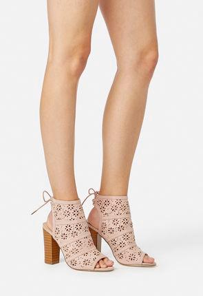 32b11b6774cd Flower Power Perforated Heeled Sandal Flower Power Perforated Heeled Sandal