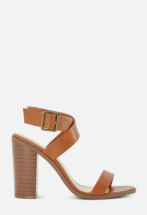 18f22ff9329 Take You Higher Block Heeled Sandal in Cognac - Get great deals at JustFab