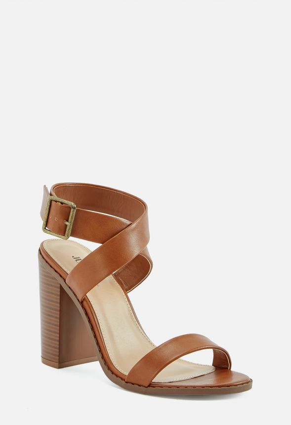 2de794156e7 Take You Higher Block Heeled Sandal in Cognac - Get great deals at ...