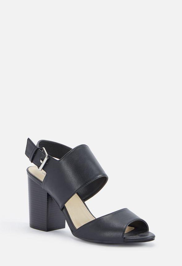 b16fe3c2eda Kearston Block Heeled Sandal in Black - Get great deals at JustFab
