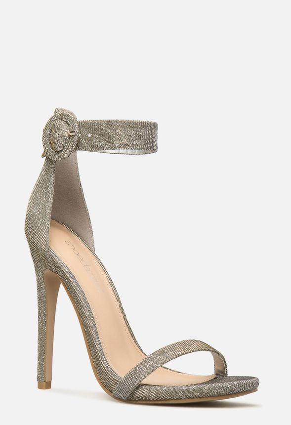 34970ccdcc4 Pasadena Two Strap Heeled Sandal in Silver - Get great deals at JustFab