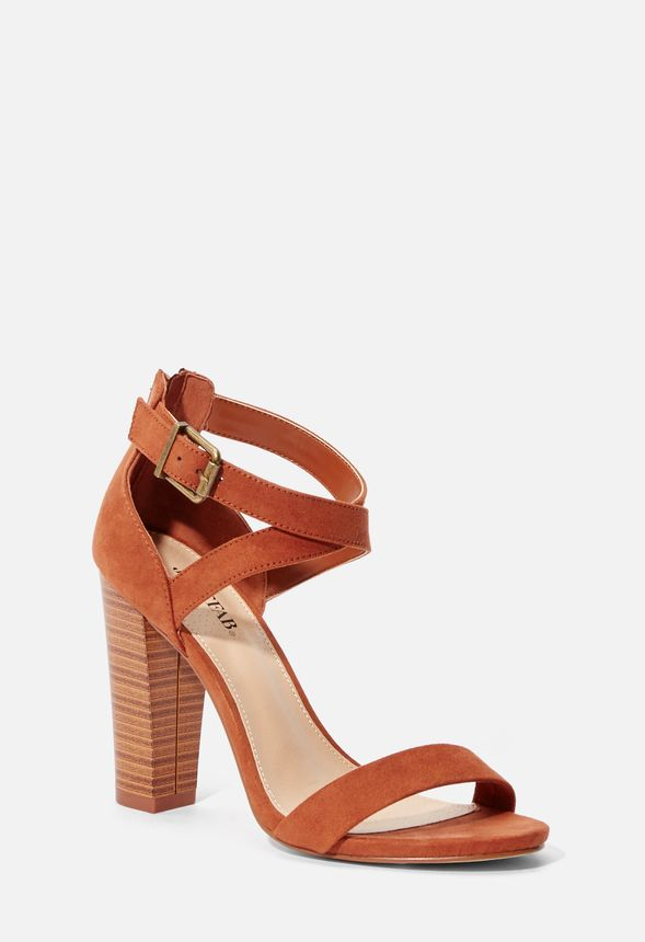 249479abcd9 Higher Calling Heeled Sandal in Cognac - Get great deals at JustFab