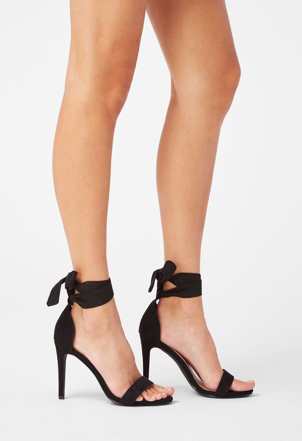 58549b03663c Striped   Sassy Heeled Sandal in Black - Get great deals at JustFab