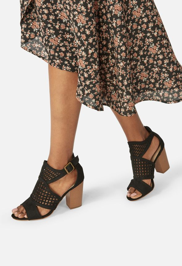 452262843b7 Crush On Me Caged Heeled Sandal in Black - Get great deals at JustFab