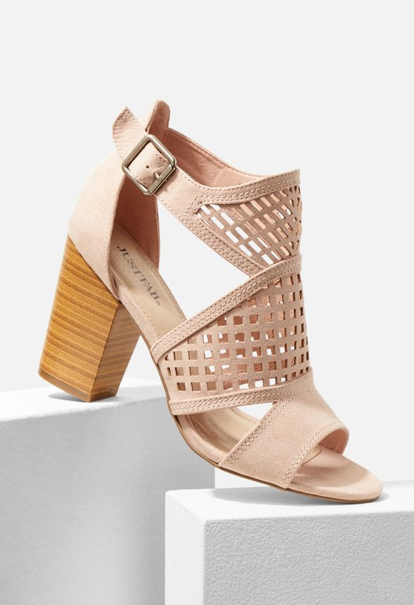 8ead0b8966f1 Crush On Me Caged Heeled Sandal in Blush - Get great deals at JustFab