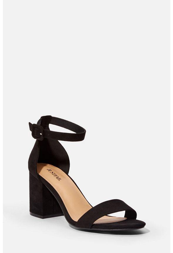 Summer Heeled Sandal in Black - Get
