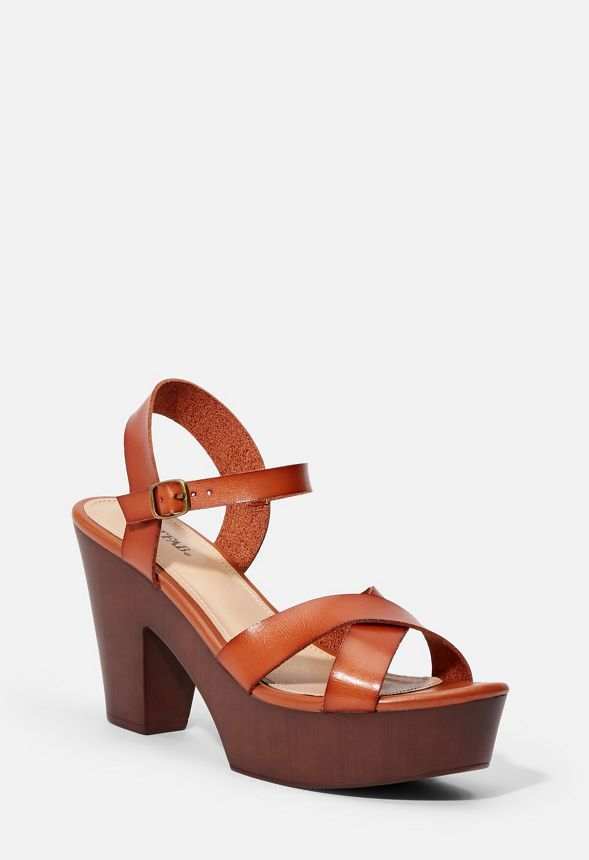 641a6b8f797 Harley Heeled Sandal in Cognac - Get great deals at JustFab